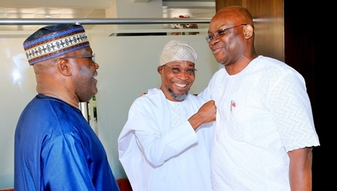 Alliance for 2019 Presidency? Atiku, Fayose, Aregbesola Spotted Together in Abuja (Photos)