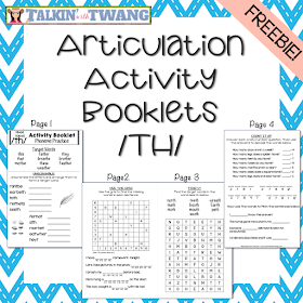FREE /th/ Activity Booklets