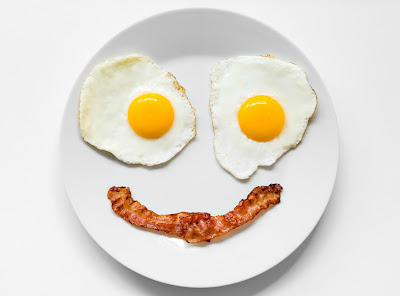Smiley egg face for World Egg Day