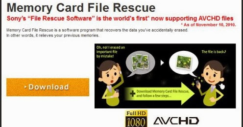 Memory card file rescue software ver. 3. 3 | sony in.