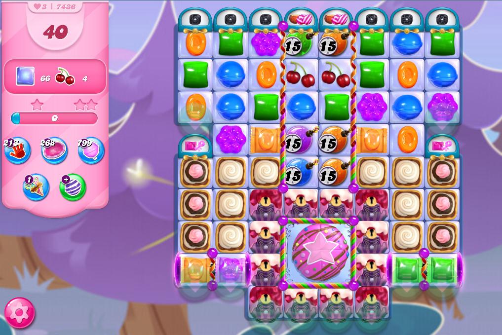 Candy Crush Saga level 7436