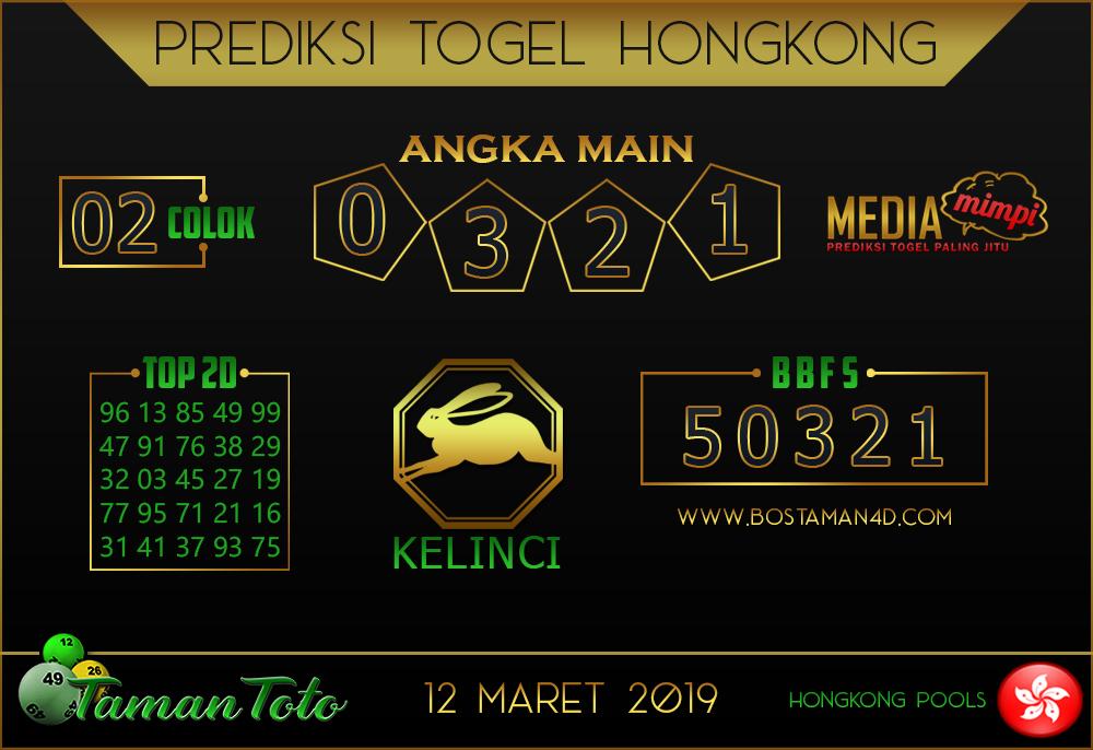 Prediksi Togel HONGKONG TAMAN TOTO 12 MARET 2019
