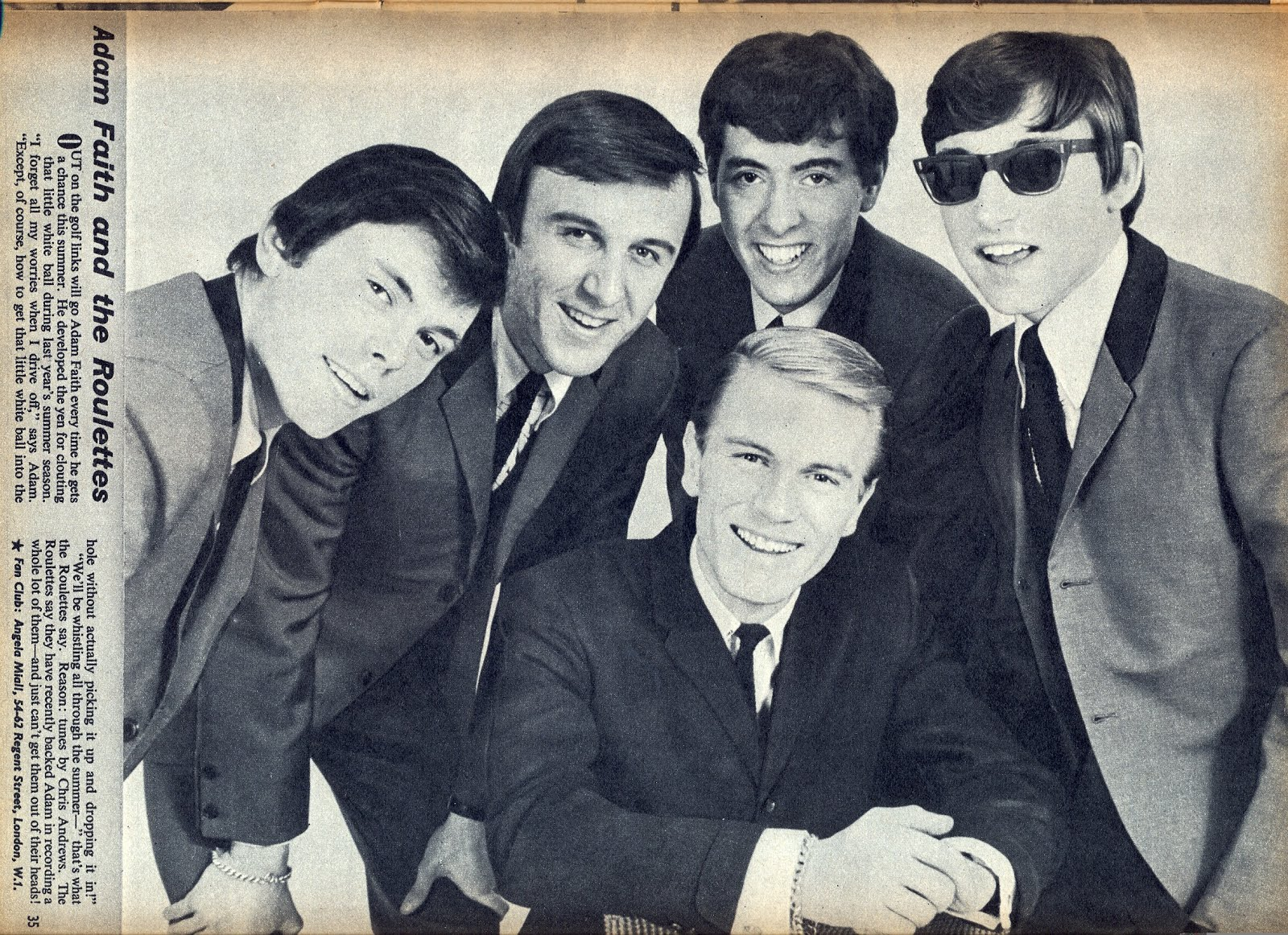 Adam Faith And The Roulettes