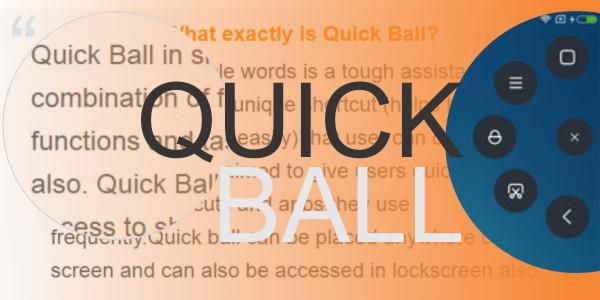 Cara Menggunakan Fitur Quick Ball (Bola Pintas) di MIUI 8