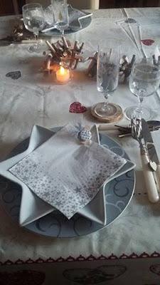 idee deco table noel blancpas cher