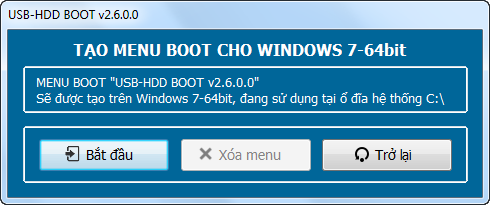 Tạo menu boot cứu hộ máy tính trên Windows bằng USB-HDD BOOT v2.7.2020.3 - usbhddboot.xyz