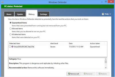 الأنتفيروس الأكثر بساطة Windows Defender 2017