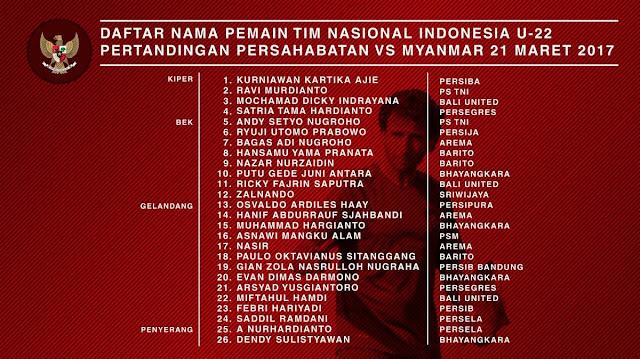 Jadwal dan Harga Tiket Pertandingan Timnas Indonesia U-22 vs Myanmar