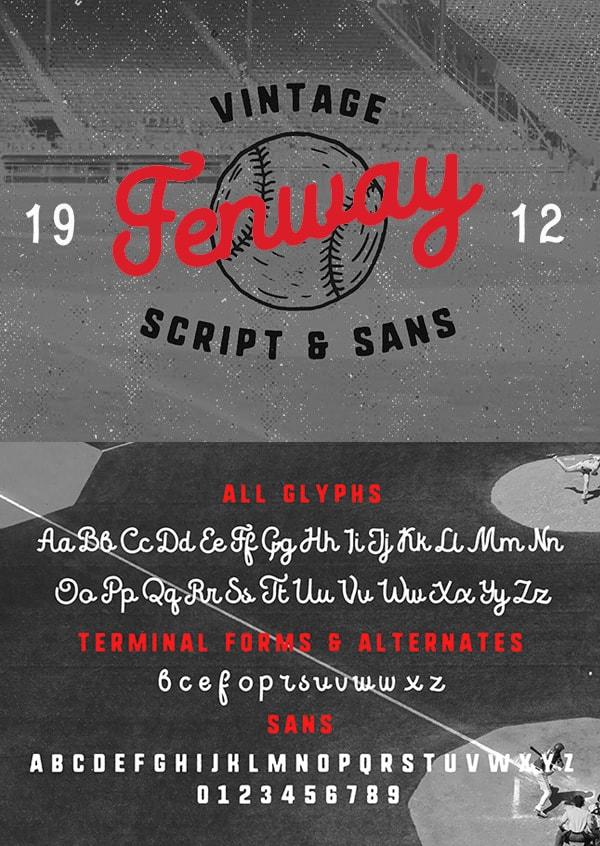 Vintage Font Gratis Terbaik - Fenway Free Vintage Font