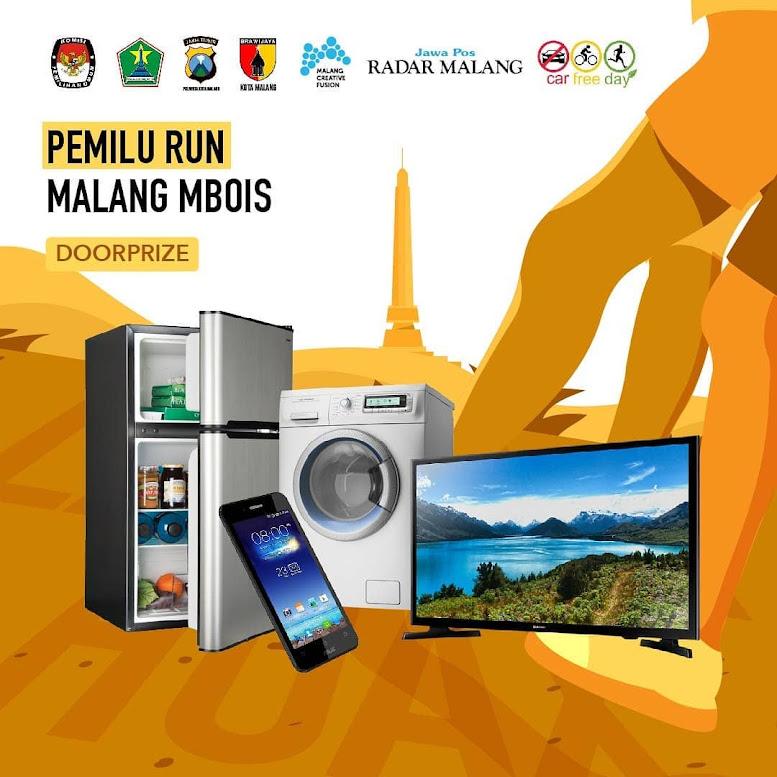 Doorprize Pemilu Run Malang Mbois 2019