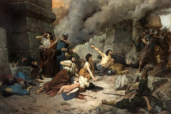 Numancia's Last Day by Alejo Vera y Estaca , Macabre Art, Macabre Paintings, Horror Paintings, Freak Art, Freak Paintings, Horror Picture, Terror Pictures