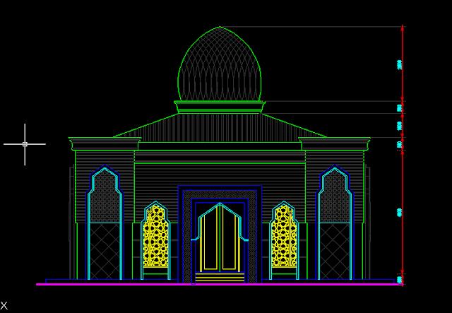 download desain masjid autocad