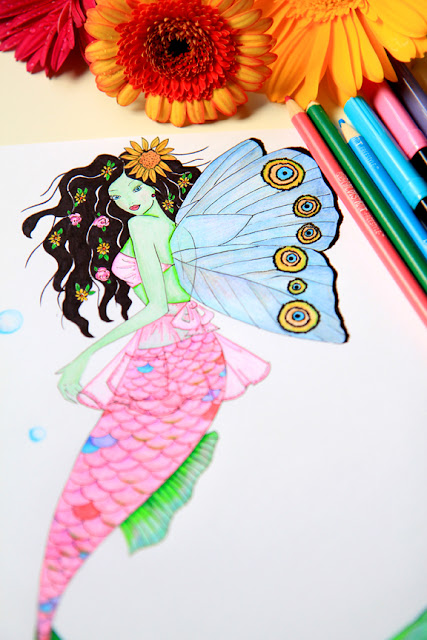 Virgo Mermaid Art by Mademoiselle Mermaid.