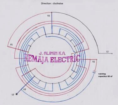 Single Phase Winding Diagram 3000 rpm | Electrical Winding ...
