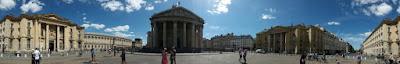 Pantheon ön çepheden çekilmiş panorama fotoğrafı