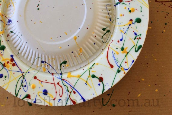 how to , diy, art party, cake stand, paint splash, nail polish craft, party ideas, best kids parties, boys parties, girls parties