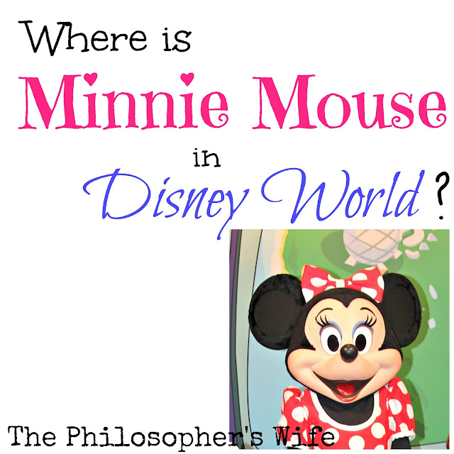 Minnie is wearing her red dress with white polka dots.
