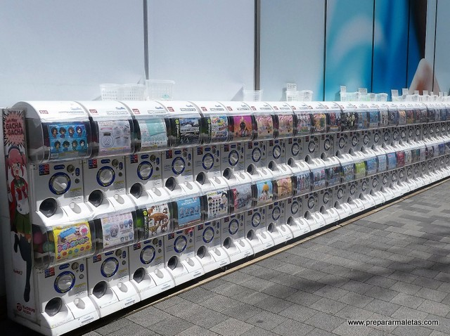 máquinas de bolas en Tokio Japón