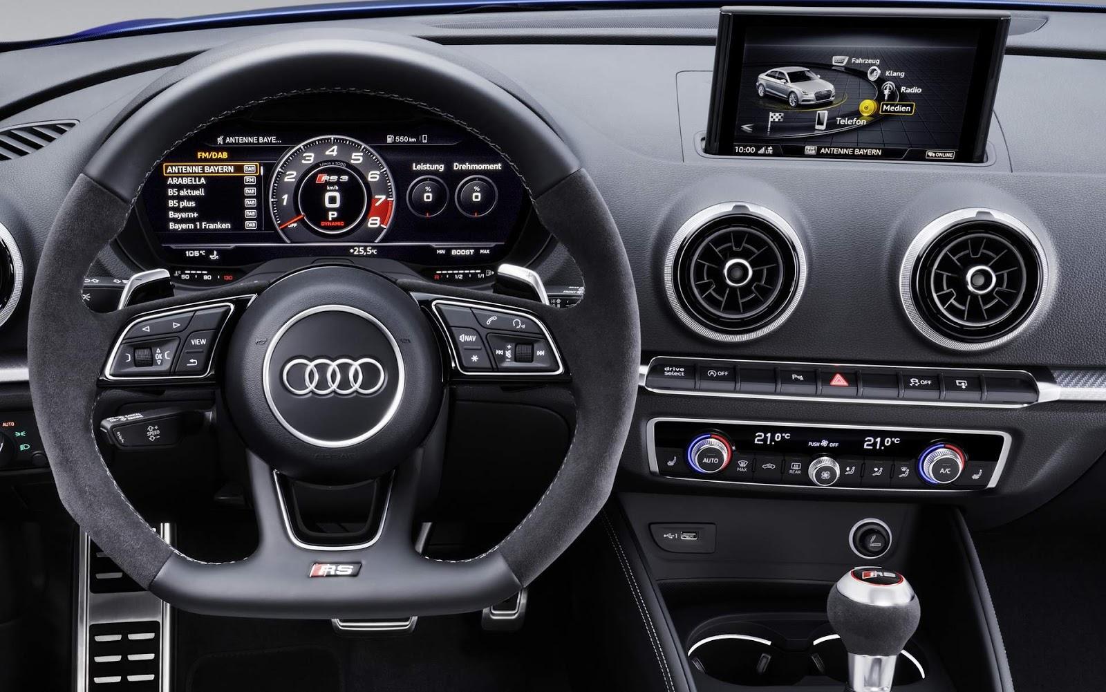 novo audi rs3 sportback 2018  facelift e motor com 405 cv