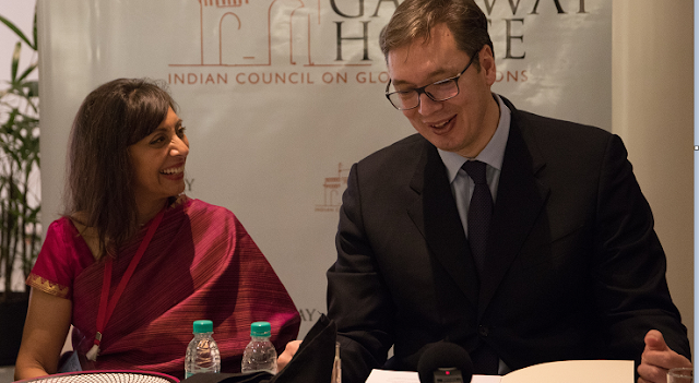 Prime Minister of Serbia, Aleksandar Vucic, discusses the European Union and India-Serbia ties