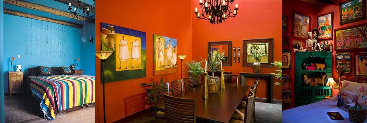 Decoracion estilo Mexicano  CASAS IDEAS