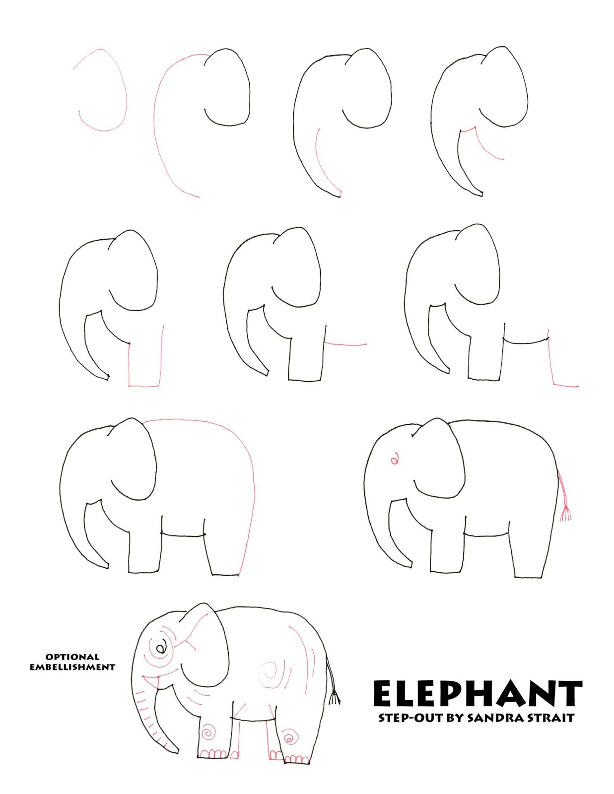 Part 1 Learn To Draw The Elephant Friday Fun Easy Landscape