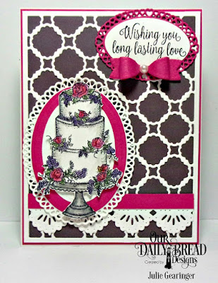 Our Daily Bread Designs Stamp: Long Lasting Love, Custom Dies: Scalloped Chain, Ovals, Ornate Ovals, Layered Lacy Ovals, Beautiful Borders, Mini Bow, Paper Collection: Wedding Wishes