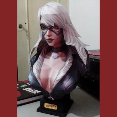 Marvel Papercraft: Black Cat Bust