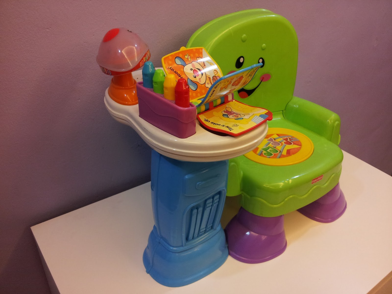 Fisher Price Sit And Play Chair Office No Arms Baby Preloved Stuffs Laugh Learn Musical