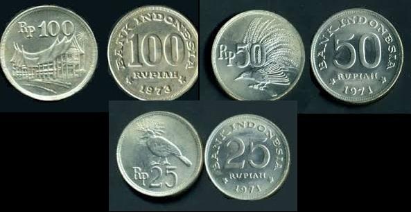 foto uang kuno, uang lama, koin kuno, koin lama