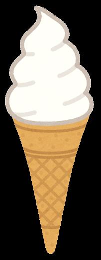 ソフトクリームのイラスト(コーン1)