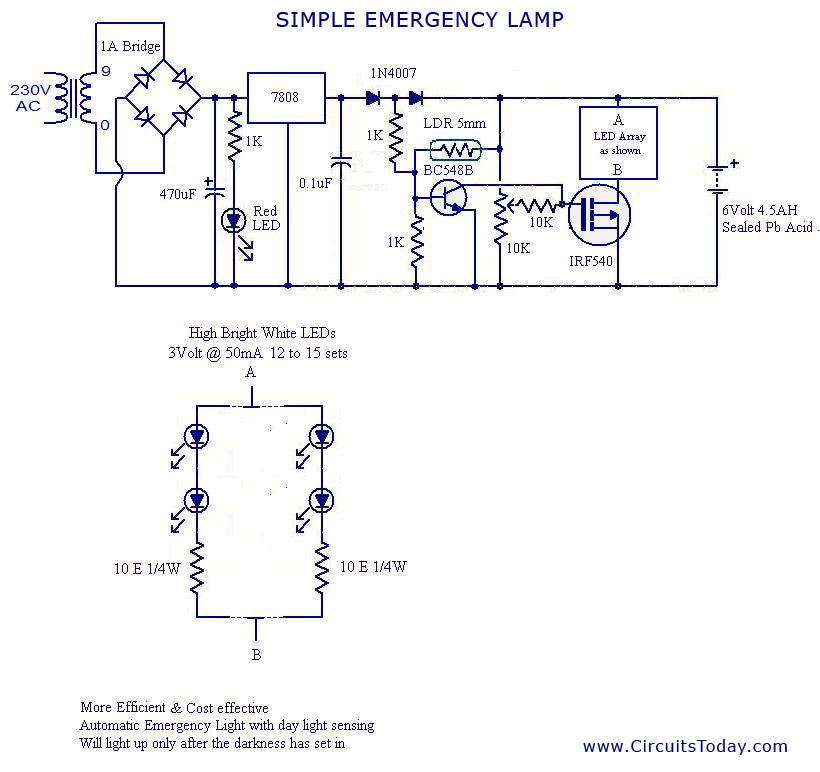 circuit wiring: Simple Current Controlled LED Tube Light ... on