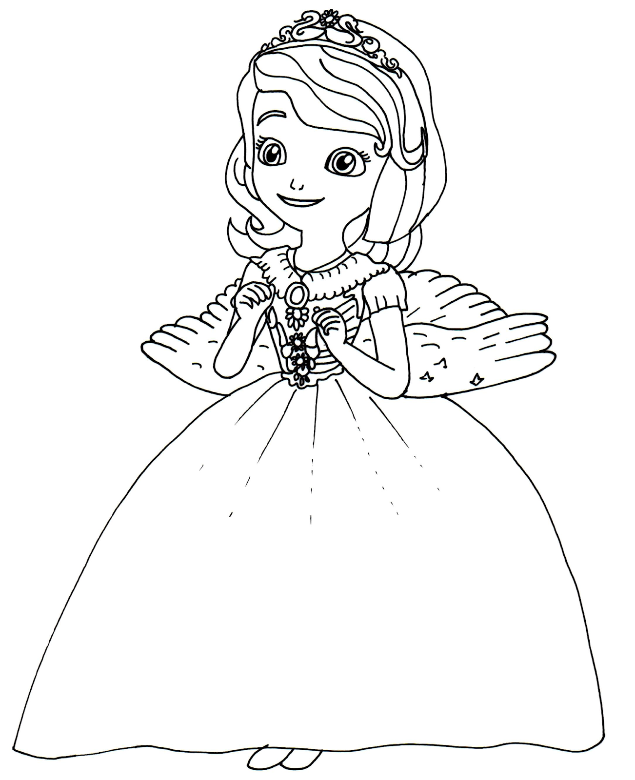 Princess Sofia First Coloring Pages Butterfly
