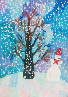 """рисунок Насти """"Волшебная зима"""""""
