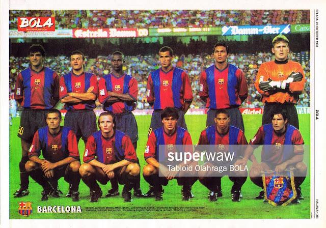 BARCELONA 1998 TEAM SQUAD