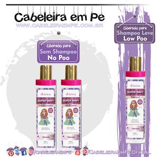 Shampoo (Low Poo), Condicionador (No Poo) e Gel e Creme (Low Poo) Infantil Super Wavy - Dhönna