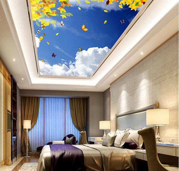 Mẫu trần phòng ngủ xuyên sáng 1
