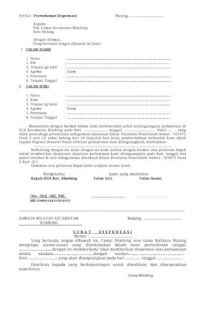 Contoh Surat Dispensasi Informasi Seputar Dunia Militer