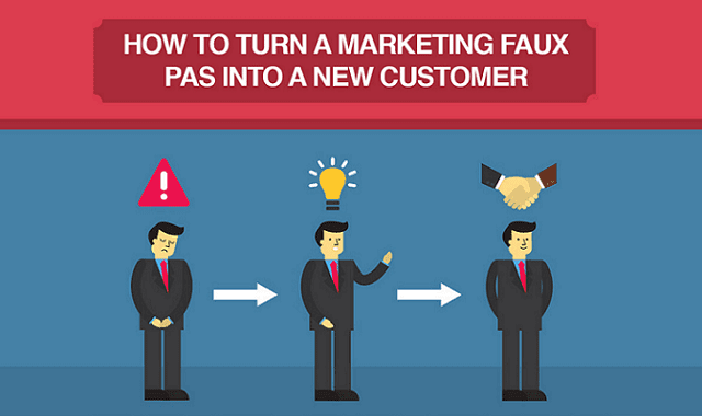 How to Turn a Marketing Faux Pas into a New Customer