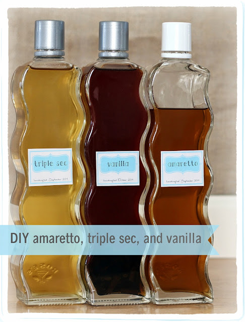 Make Your Own, and save a small fortune, Vanilla, Triple Sec