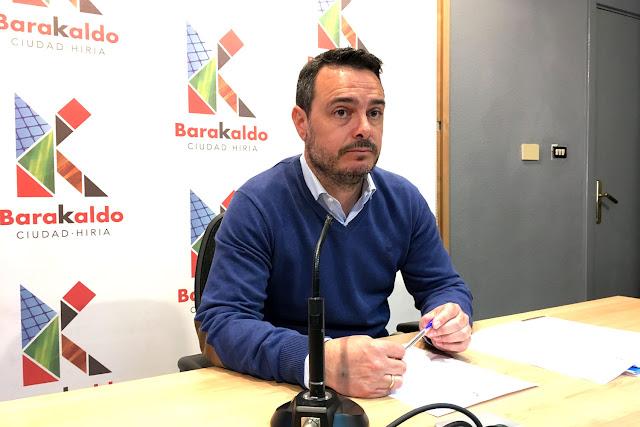 El concejal de Servicios Municipales, Jonan Uría (PNV)