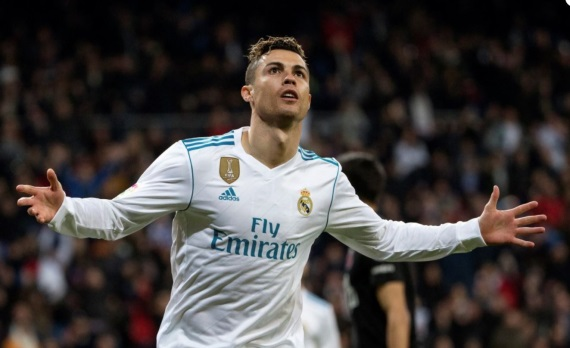 Real Madrid star Cristiano Ronaldo celebrates a goal