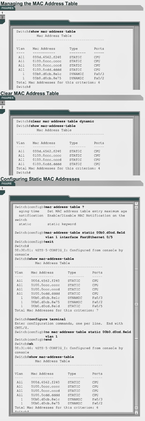 CCNA :) Be a Good Network Administrator: Managing the MAC address
