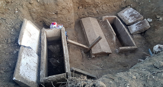 Hellenistic sarcophagi found near the ancient Greek city of Parion