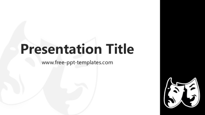 black and white powerpoint template