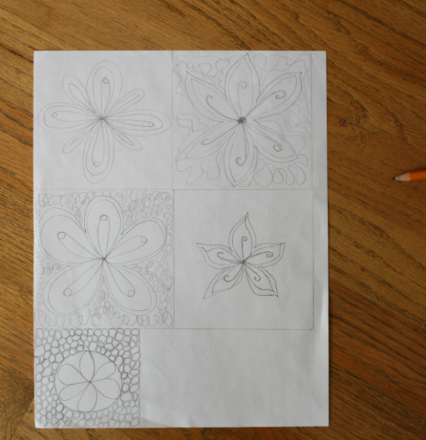 More free motion quilting doodles | DevotedQuilter.blogspot.com