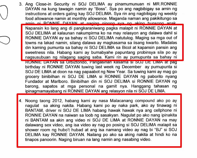PSG Member and Former Security of De Lima Confirmed Video Scandal and Affair:'Kapansin-pansin Ang Sweetness Nila'