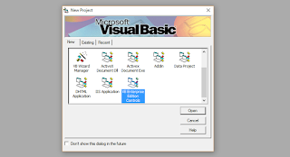 Membuat New Project Visual Basic Enterprise Edition Controls