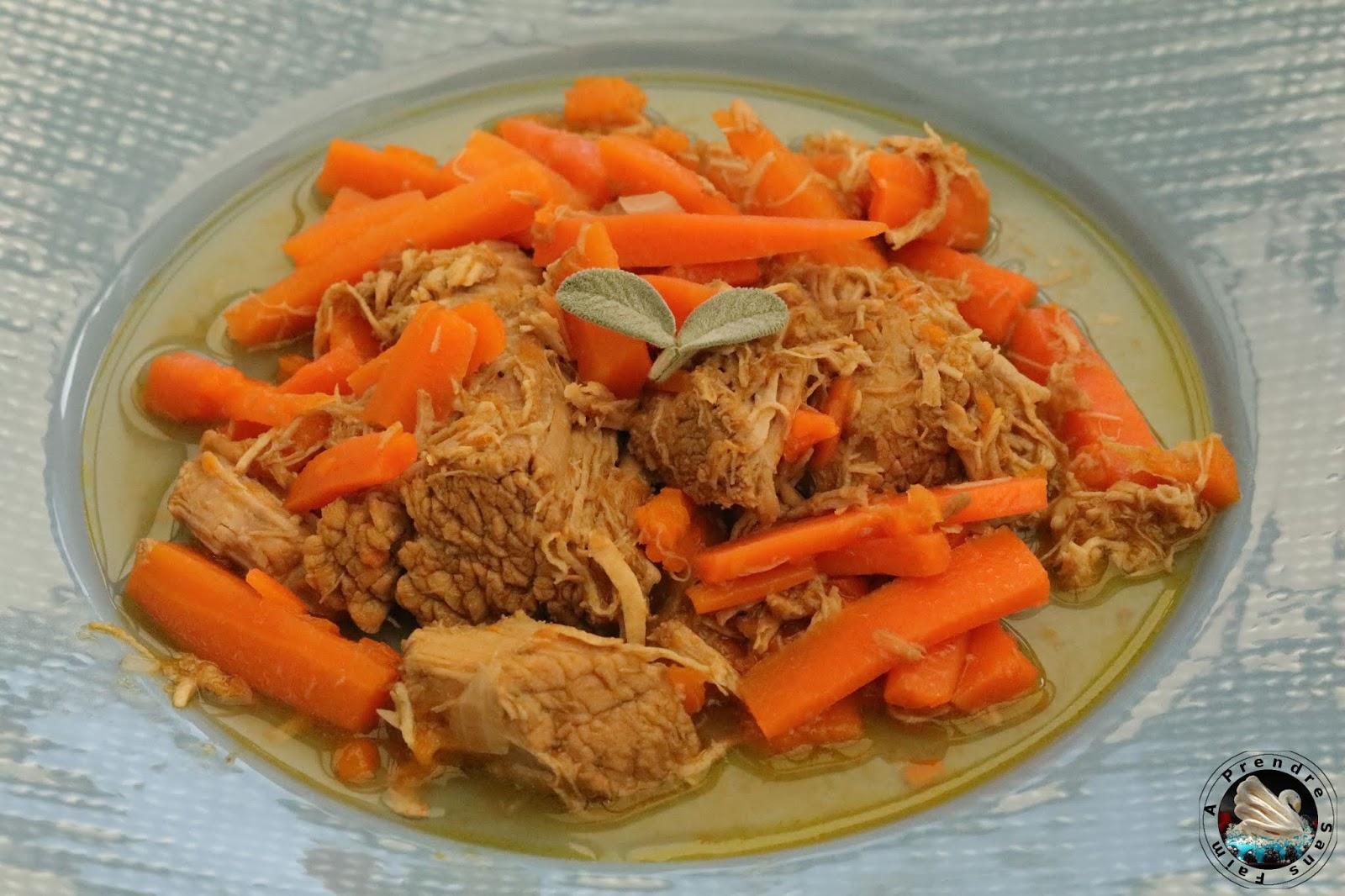 Sauté de veau sauge et cidre aux carottes