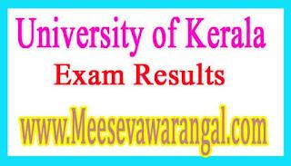 University of Kerala B.A IInd Year (Regular / Supply) Part-1 / 2 Exam Results